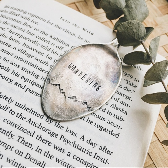 Wandering Spoon Bookmark Silver